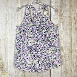 4/$25 Yumi Kim Printed Sleeveless Blouse Top